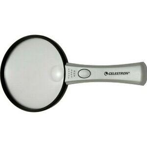 Celestron Large Handheld Illuminated Magnifier (2x) #44802 (UK Stock) BNIP