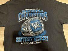 Kentucky Wildcats Championship Ring T Shirt 2012 Black Size Xl Ncaa Basketball
