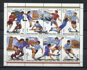 s6327) ST.VINCENT & GR. 1990 MNH** WC Football'90 - CM Calcio S/S