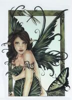 CUTE REDHEAD FRECKLED FOREST FAIRY BUTTERFLY FAE FAERIE VINYL STICKER/Car DECAL