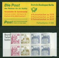 Berlin MH 10 a I postfrisch 536,534,532 C + D Werte Markenheftchen Burgen und Sc