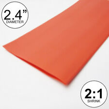 """2.4"""" ID Red Heat Shrink Tube 2:1 ratio 2.5 wrap (10 feet) inch/ft/to 60mm"""