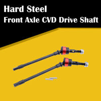 2x Front / Rear Axle CVD Drive Shaft Dogbone Steel for 1/10 Axial SCX10 RC Car