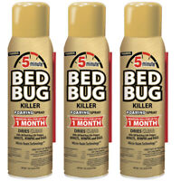 Harris 16 oz. 5-Minute Bed Bug Killer Foam Spray/Kills All Life Stages (3pk)
