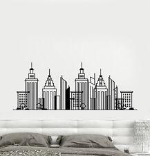 Vinyl Wall Decal Big Cartoon City Building Town Stickers (1562ig)