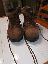 Wolverine Brown Distressed Work Boots Men's Size 11