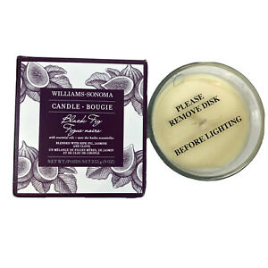 Williams Sonoma Black Fig Bougie Essential Oils Candle 50 Hours