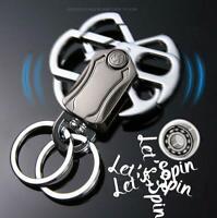 Metal Style Fidget Spinner Keyring Alloy Bottle Opener Key Ring Chain Car Gift