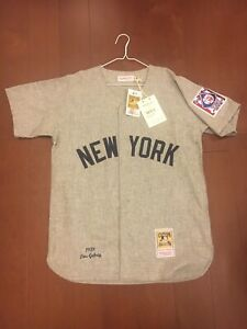 NWT Mitchell and Ness Authentic Lou Gehrig Flannel Jersey