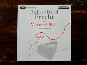 """Richard David Precht liest """"Von der Pflicht"""",1 mp3-CD,ungekürzt,OVP,ohne Porto"""