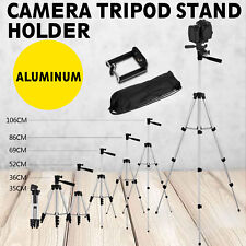 Adjustable Camera Tripod Stand Mount+Cell Phone Holder for iPhone Samsung W/ Bag