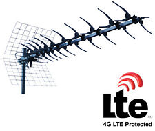 ANTENNE TV  UHF 13 ELEMENTS RECEPTION TNT HD CANAUX 21 A 60 LTE PROTECTION 4G
