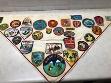 Boy Scout Troop Neckerchief Full of Patches #1 - Military Bases