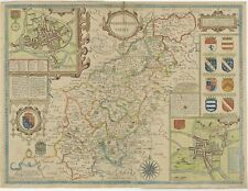 Antique Map of Northamptonshire by Speed (1676)