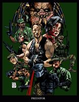 Predator Classic 80's Movie - Fantasy Film Art Large Poster / Canvas Pictures