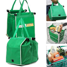 Foldable Reusable Supermarket Shopping Bags Large Trolley Grab Bag Hold 40 lbs