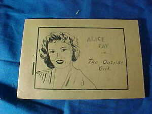 1930s TIJUANA BIBLE 8 Page COMIC Book-Actress ALICE FAY in THE OUTSIDE GIRL