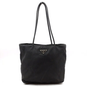 PRADA Tote Bag Triangle Logo Nylon Black
