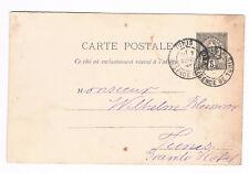 TUNESIE TUNISIA OLD POSTAL STATIONERY CARD 5c TUNIS 1896 used  (B8/69)