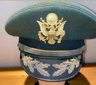 US Army WW2 Green Dress Officer Major Gold trimmed Visor Cap Hat