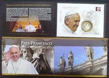 Vatikan Numisbrief / Medaillenbrief Papst Franziskus Jahrestag Pontifikat Folder
