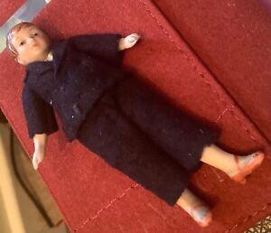 Miniature German dolls house doll 8cm tall