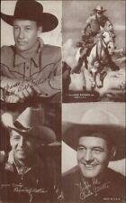 Cowboy Actor Multi 4 in 1 Arcade/Exhibit Card Bill Elliott Charles Starrett