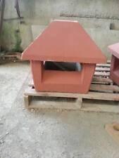 Cappello Fumaiolo Comignolo  Con Base Quadrata 40x40 rosso in cemento