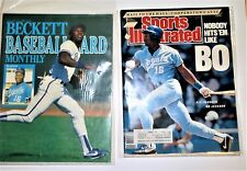 2 Bo Jackson Royals Magazine Covers Beckett's and Sports Illustrated