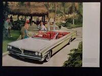 Pubblicità originale Pontiac Bonneville del 1961 da rivista in passepartout