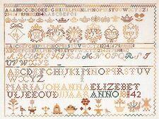 THEA GOUVERNEUR  2066  Sampler  Kit  Broderie  Point de croix  Compté  Lin