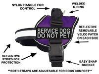 Doggie Stylz SERVICE DOG DO NOT PET Harness Vest Nylon 2 removable patches USA