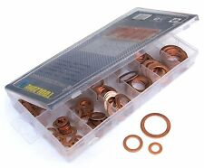 Copper Washer set 140pc solid Copper Washers. Assorted oil sump sealing Washers