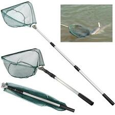 Durable Triangular Folding Fishing Landing Net 3 Section Extending Pole Handle
