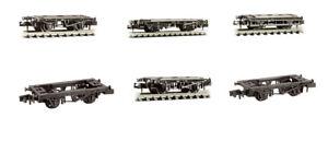 Wagon chassis kits - N gauge model train spares Peco