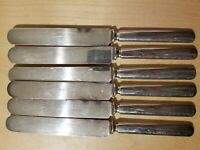 6 ANTIQUE VINTAGE COLLECTIBLE Flatware,Wm ROGERS & SON, 12 DWT, SILVER PLATED