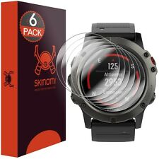 Skinomi (6-Pack) Clear Watch Screen Protectors for Garmin Fenix 5x / 5x Plus