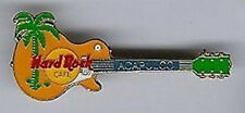 Hard Rock Cafe Acapulco 1997 Orange Les Paul Guitar with Palm Tree Pin