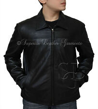 Mens Black Dexter Biker Leather jacket