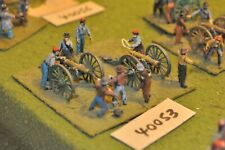 25mm ACW / confederate - 2 guns & crews plastic - art (40053)
