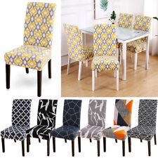 New Dining Room Chair Cover Wedding  Banquet Party Decor Slipcover Washable