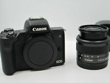 Canon M50 Mirrorless Camera w/ 15-45mm STM Lens And Canon EF-EOS Lens Adapter