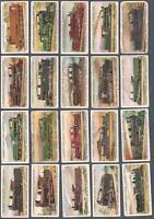 1913 Lambert & Butler World's Locomotives Additional Tobacco Cards Complete Set