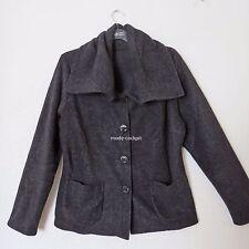 BORIS INDUSTRIES softe Kuschel Fleece Jacke mit Taschen Lagenlook schwarz 46 (4)