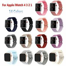 38/42mm Canvas Band Wrist Strap Bracelet For New Watch iWatch Series 4 3 2 1