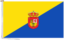 More details for gran canaria spain flag with rope and toggle - various sizes