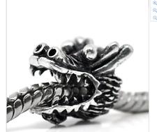 Dragon Fire Fantasía pulsera con dijes Brazalete de plata de regalo encantos del grano PD europeo Reino Unido