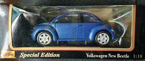 Maisto Special Edition 1/18 Volkswagen New Beetle 1:18 Blue