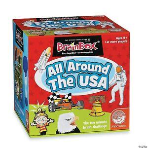 Brain Box All Around The USA Game. The Green Board Game Company.