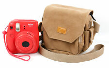 Light Brown Medium Sized Canvas Carry Bag for Fujifilm Instax 8 w/ Extra Pockets